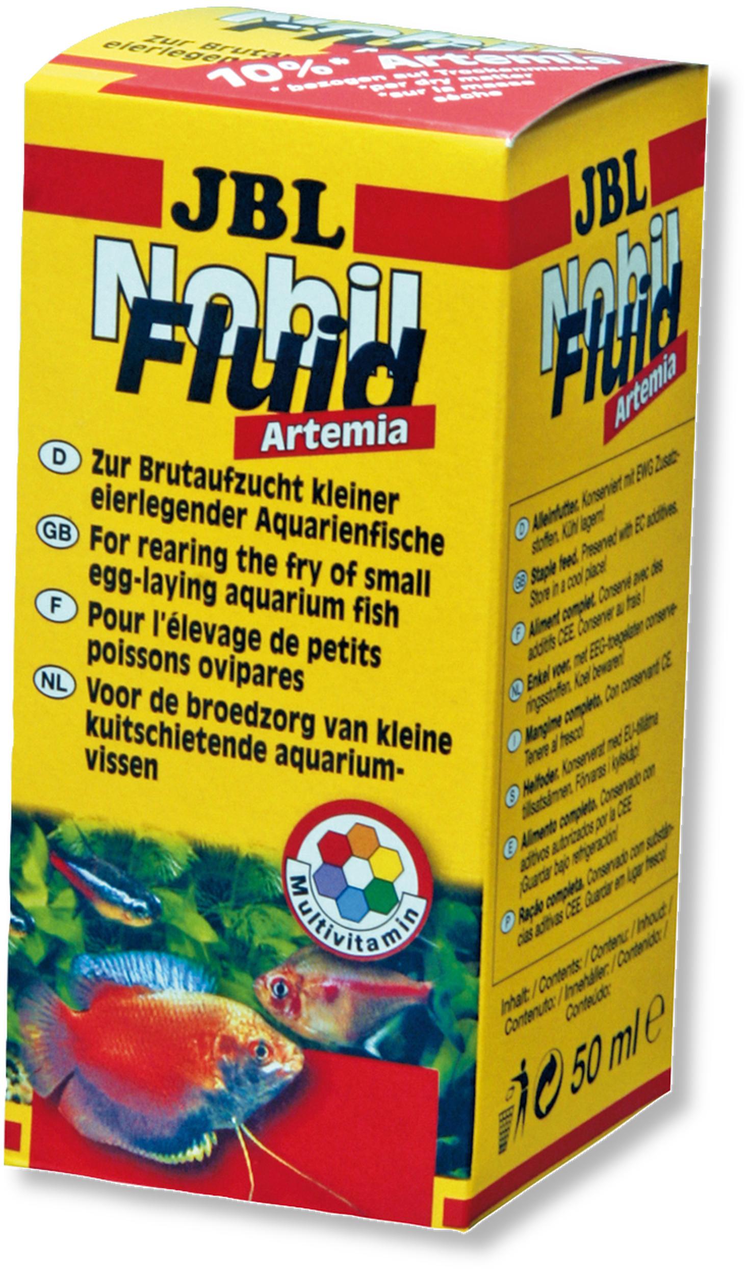 JBL Nobil Fluid 50 ml nourriture d\'élevage, liquide, à base d\'artémia et vitamines