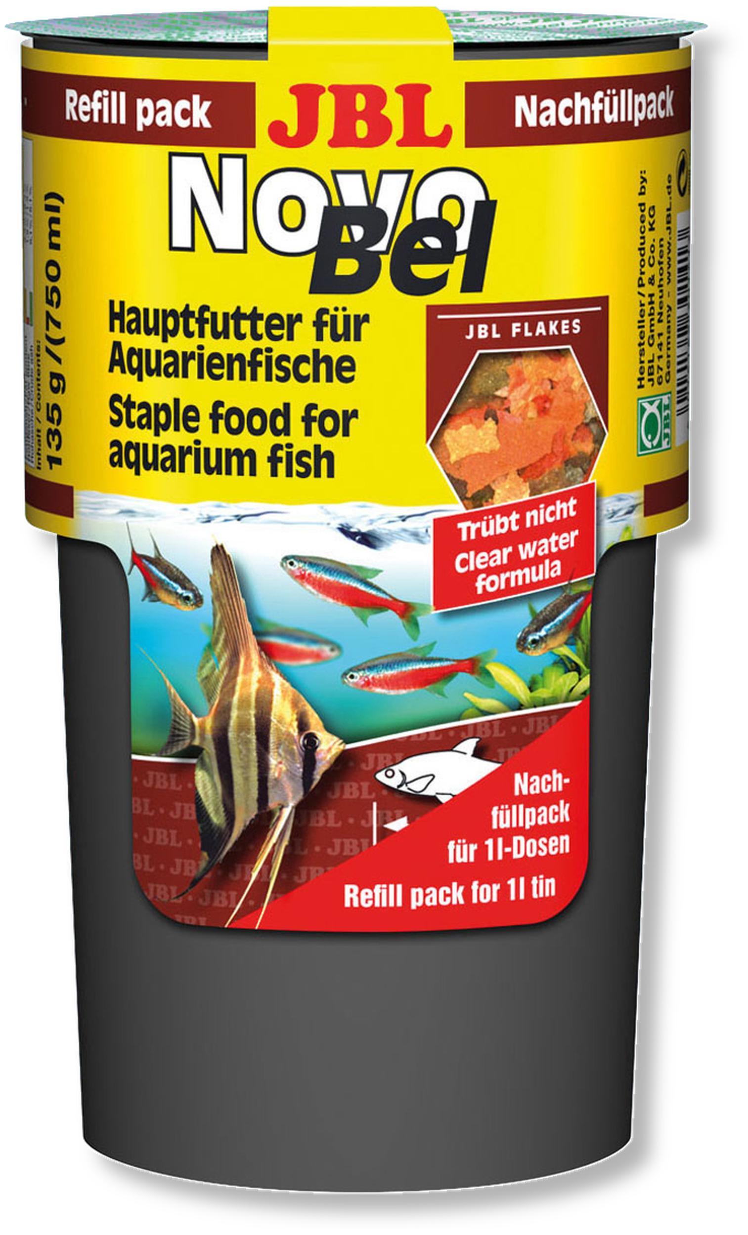 JBL NovoBel Recharge 750 ml nourriture en paillettes pour poissons exotiques