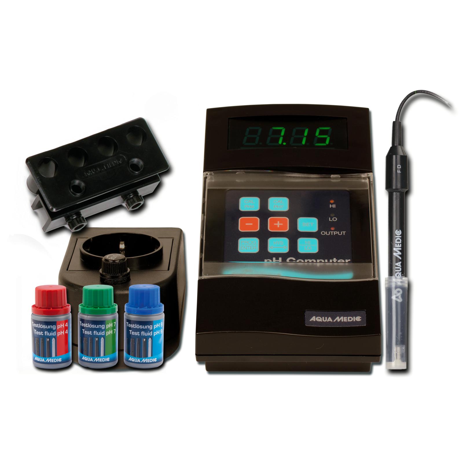 AQUA MEDIC pH computer-Set kit complet qualité professionnel avec contrôleur pH géré par microprocesseur, électrode et accessoires