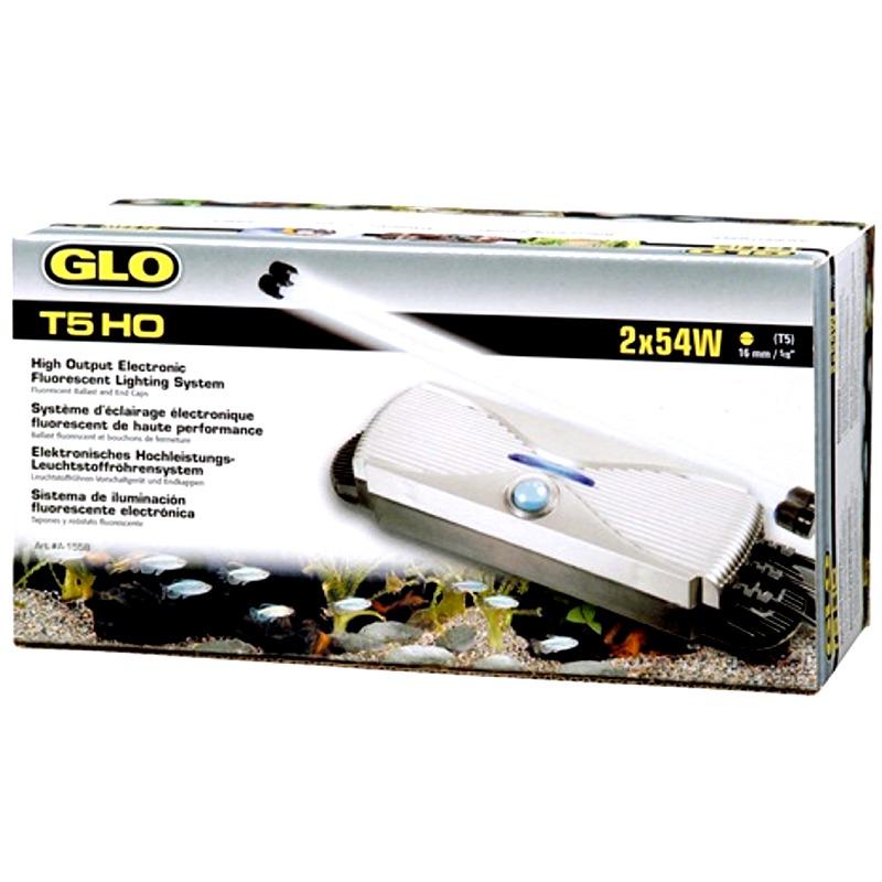 GLO T5 HO 2 x 54W ballast électronique complet avec douilles étanches pour deux tubes fluorescent T5