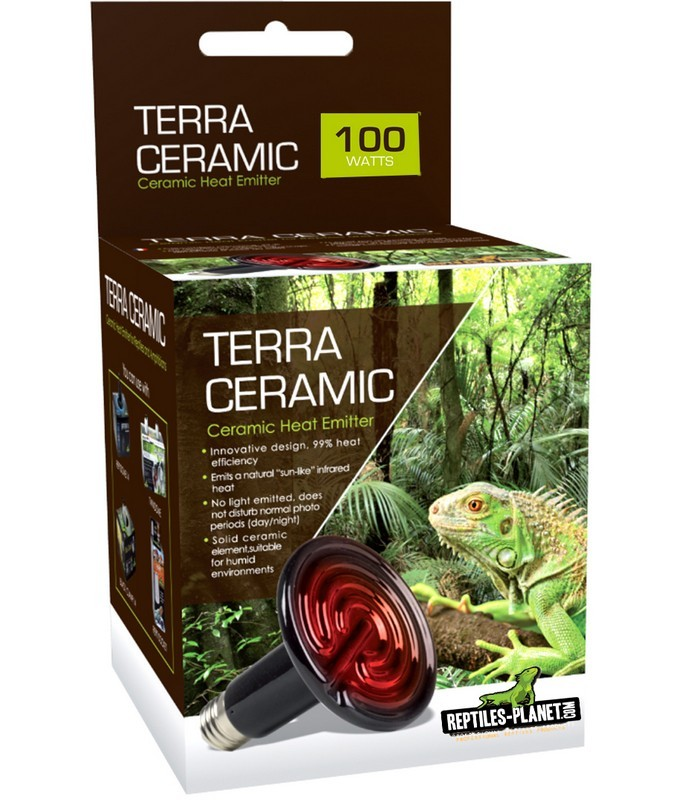REPTILES PLANET Terra Ceramic 100W spot chauffant céramique avec culot E27