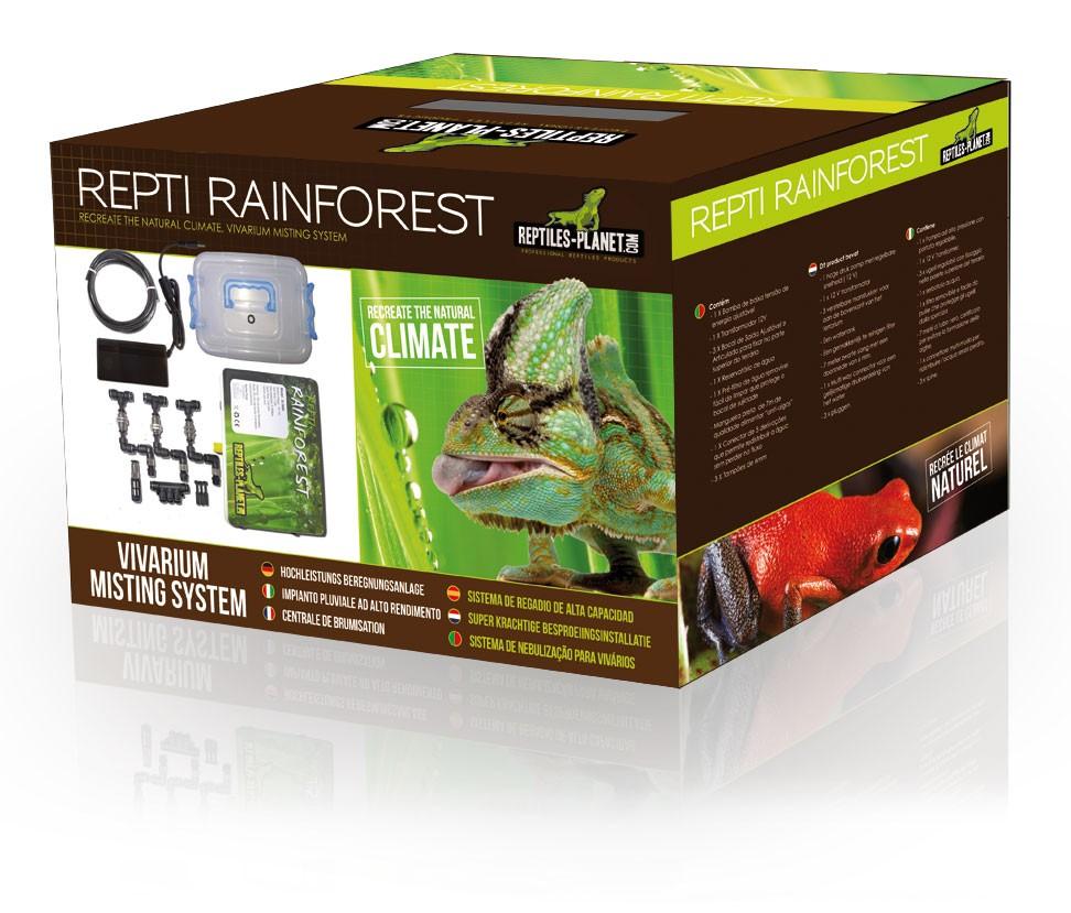 REPTILES PLANET Repti Rainforest brumisateur 3 buses, pompe 12V et resevoir d\'eau pour terrarium