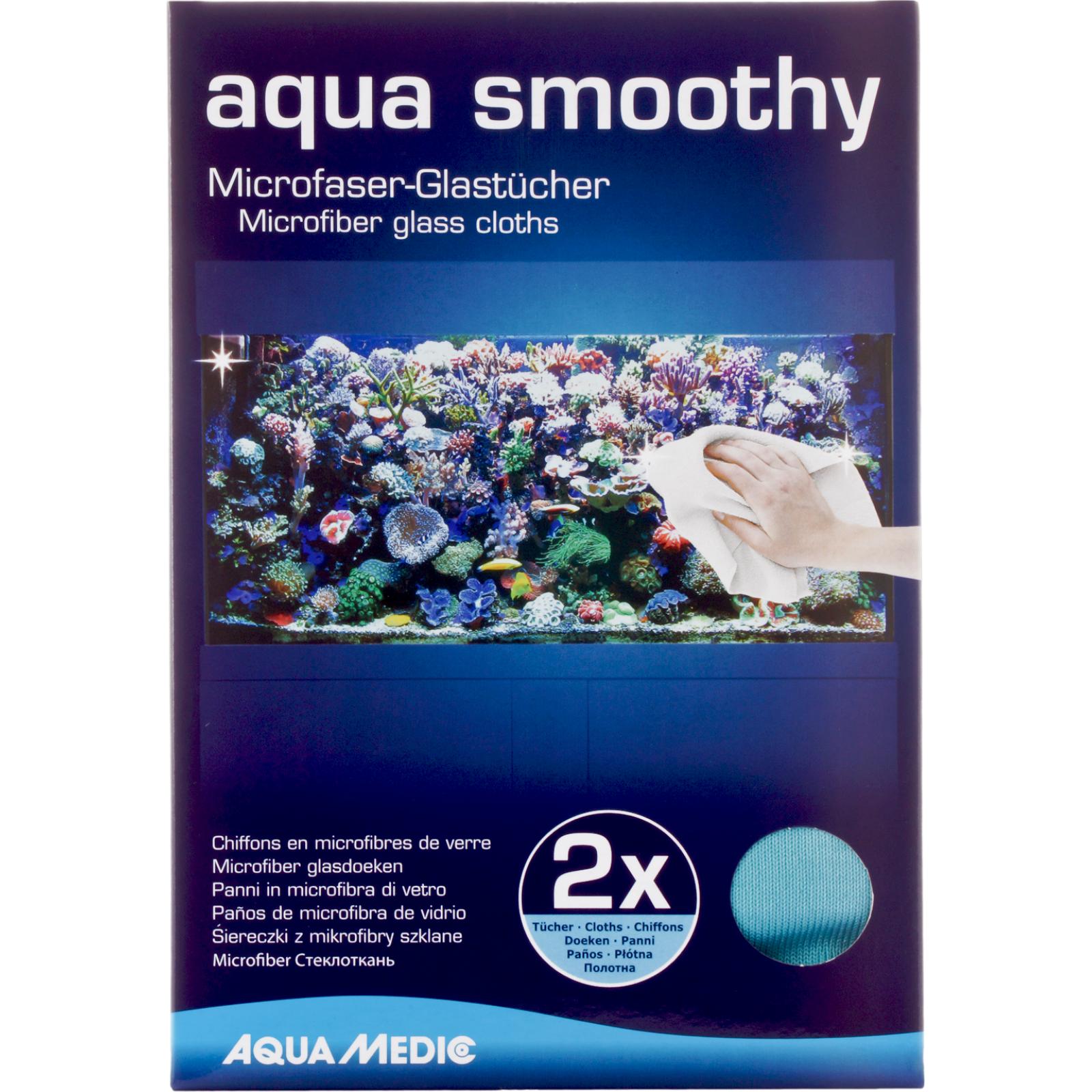 AQUA MEDIC Aqua Smoothy lot de 2 chiffons en microfibres pour le nettoyage des vitres exterieurs de l\'aquarium