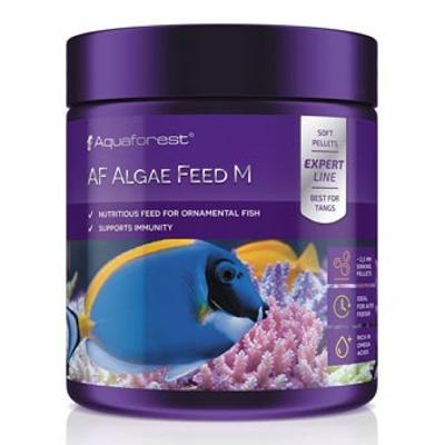 AQUAFOREST AF Algae Feed M 120 gr nourriture à base d\'algues en granulés de 2,5 mm spéciales poissons marins herbivores