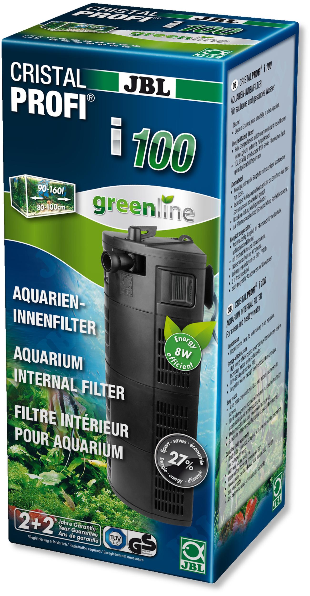 Filtre interne JBL CristalProfi i100 Greenline pour aquarium de 90 à 160L