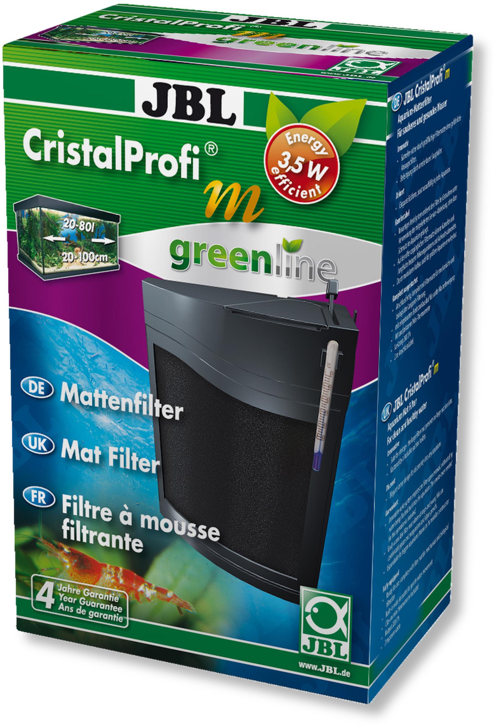 JBL CristalProfi m greenline filtre interne plat pour aquarium et nano-aquarium de 20 à 80 L