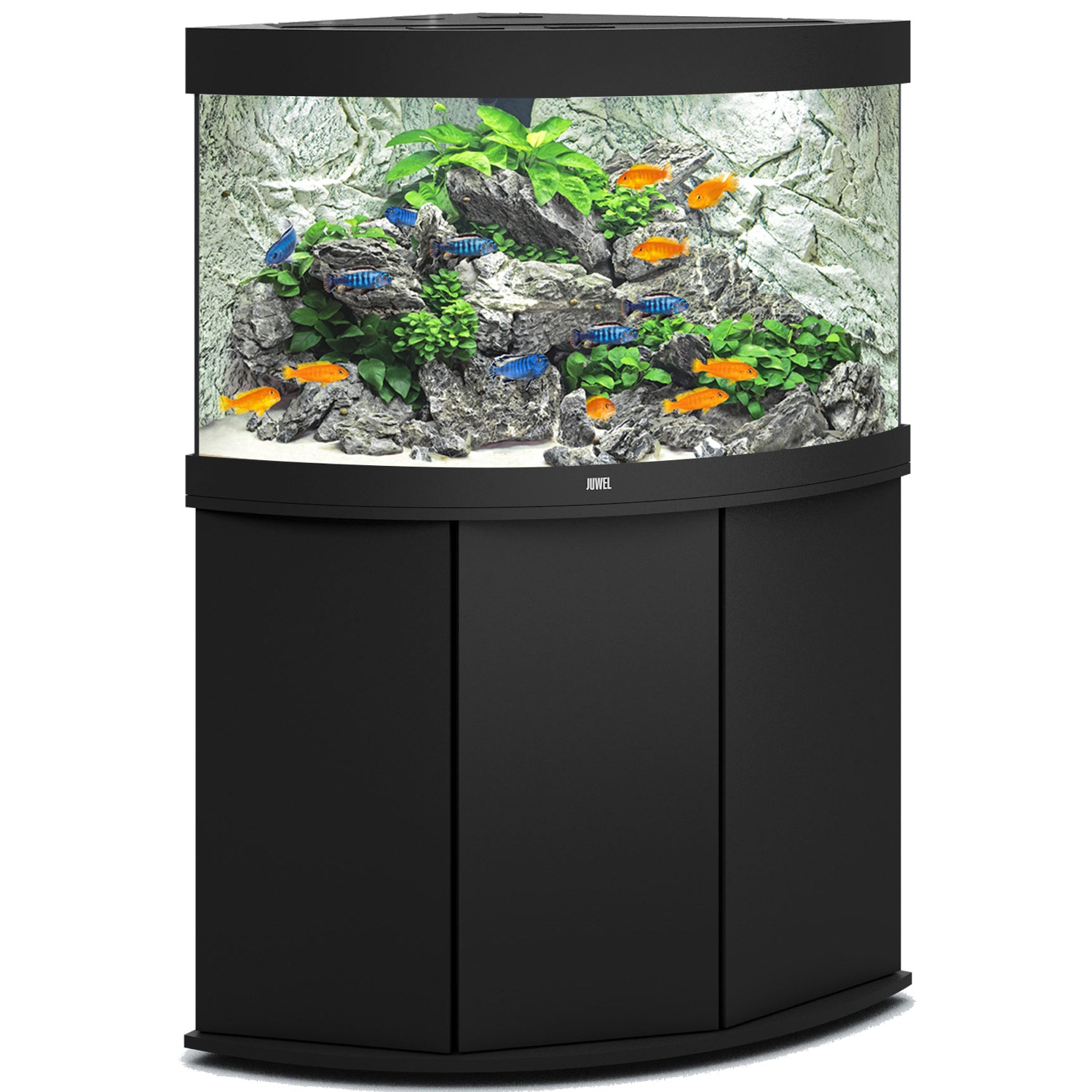 aquarium juwel trigon 190 led dim 99 x 70 x 60 cm 190 litres coloris au choix avec ou sans meuble. Black Bedroom Furniture Sets. Home Design Ideas
