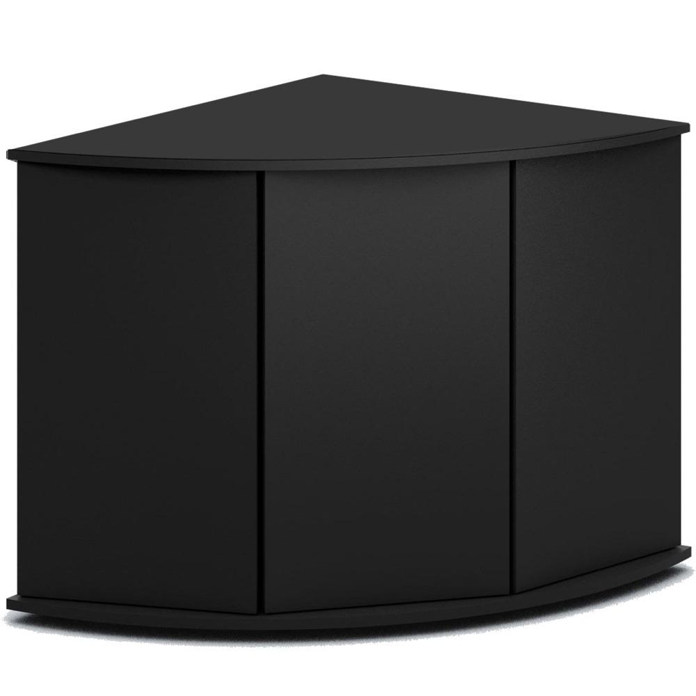 Meuble d\'angle JUWEL Trigon 350 SBX pour aquarium de 87 x 87 x 123 cm 4 coloris au choix : Noir, Chêne clair, Blanc, Brun