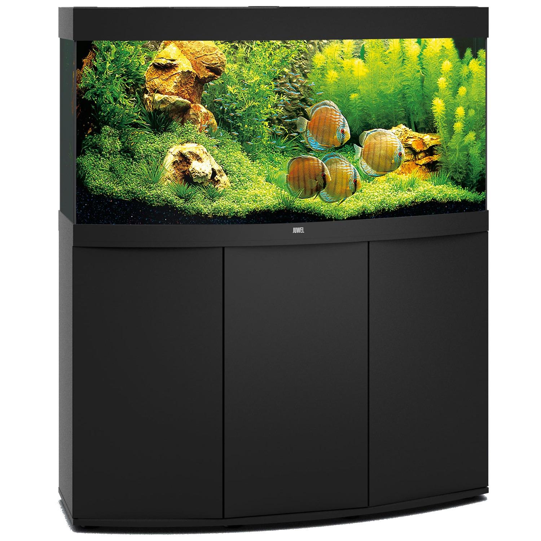 aquarium-juwel-vision-260-LED-tout-equipe-noir-avec-meuble