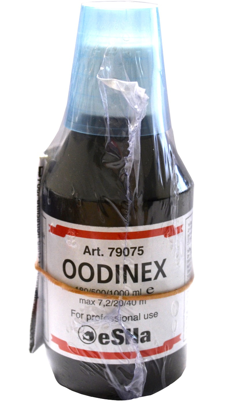 ESHA Oodinex 180ml traitement multi-maladies pour poissons marins cohabitant avec des invertébrés