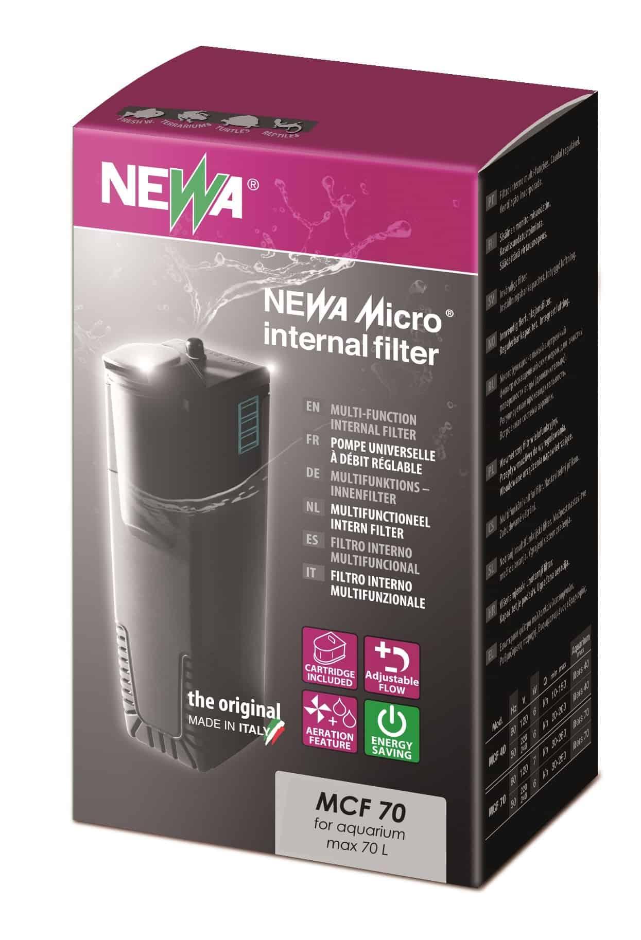 NEWA Micro MCF 70 mini filtre interne pour nano aquarium jusqu\'à 70 L