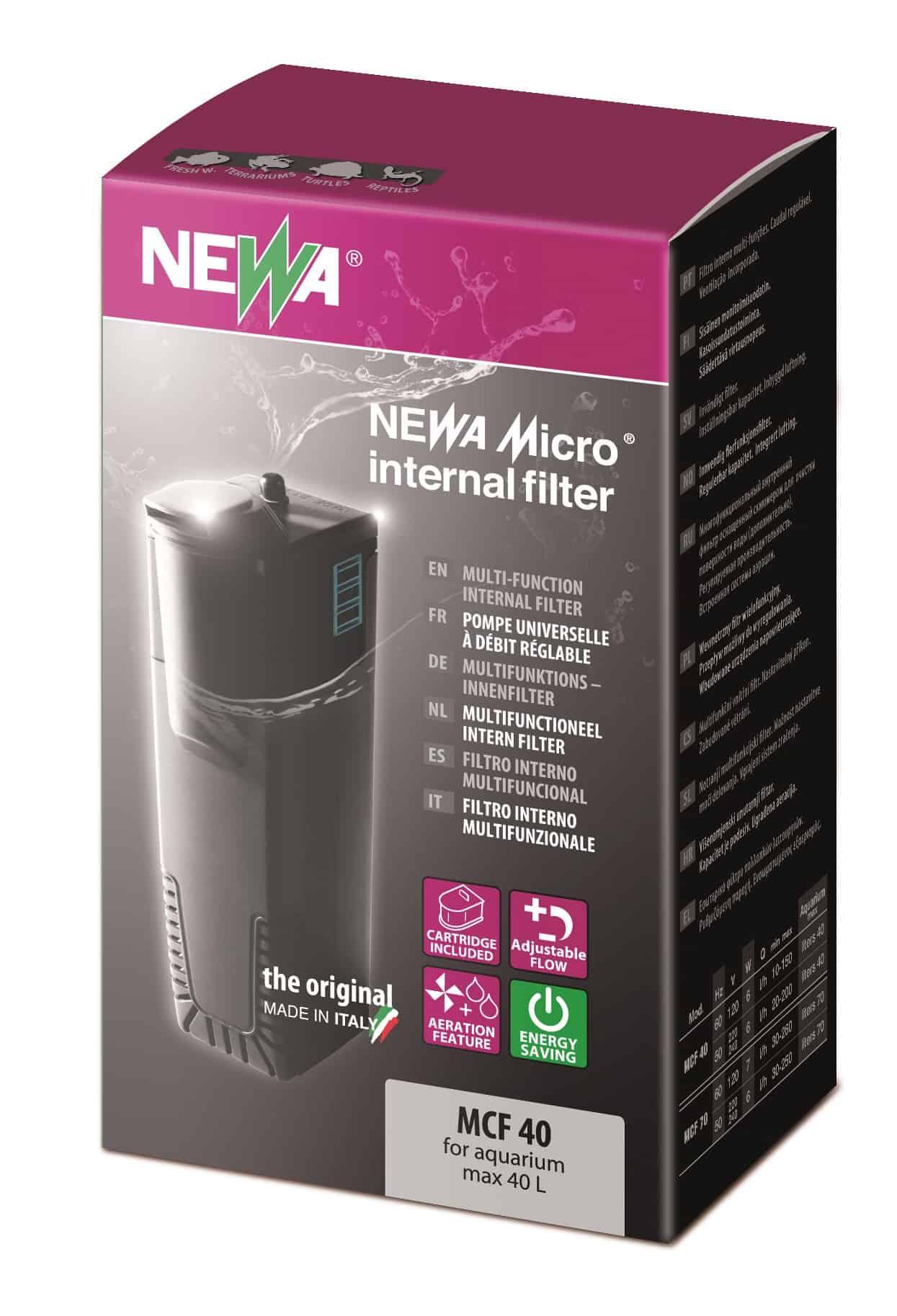 NEWA Micro MCF 40 mini filtre interne pour nano aquarium jusqu\'à 40 L
