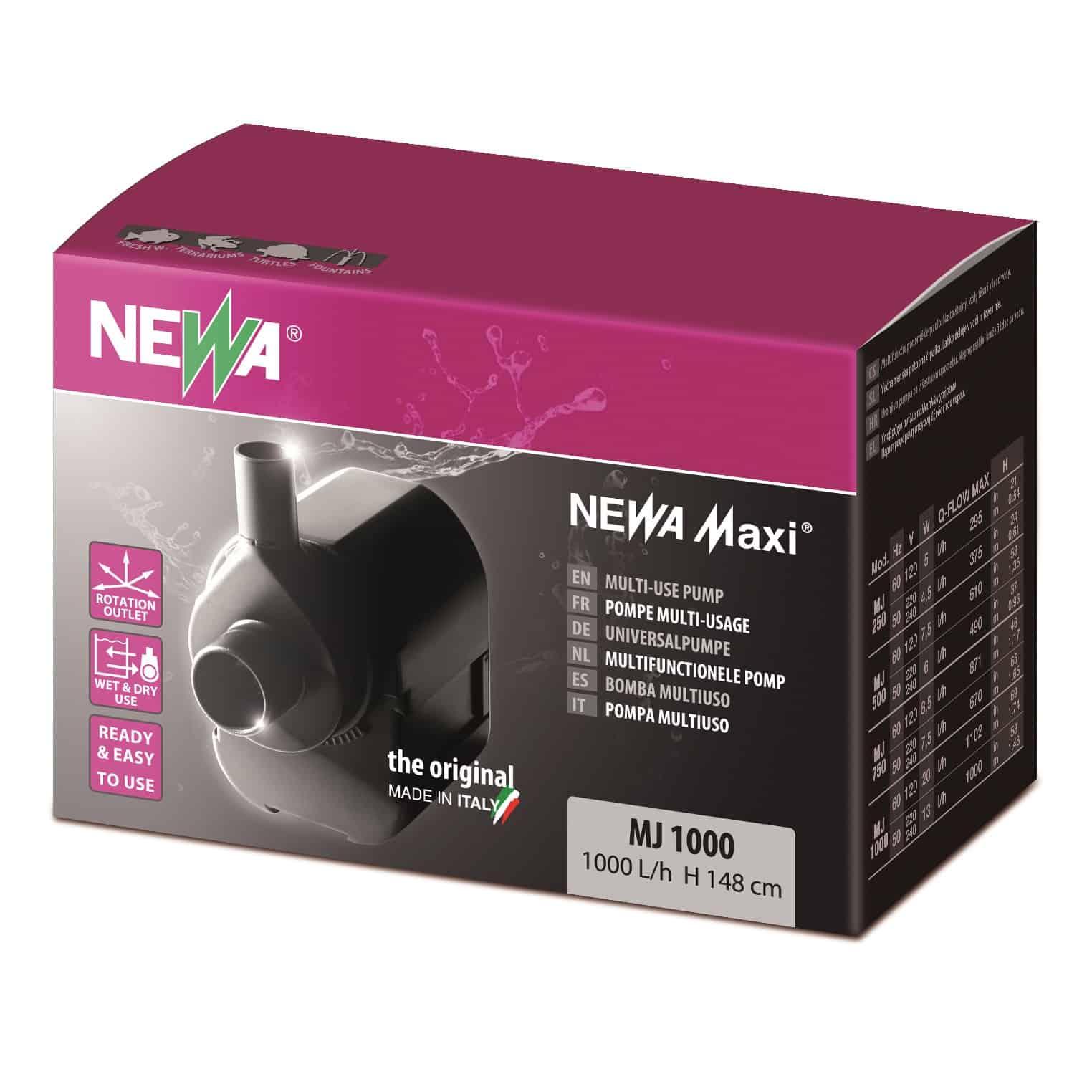 NEWA Maxi 1000 pompe universelle pour aquarium avec débit de 1000 L/h