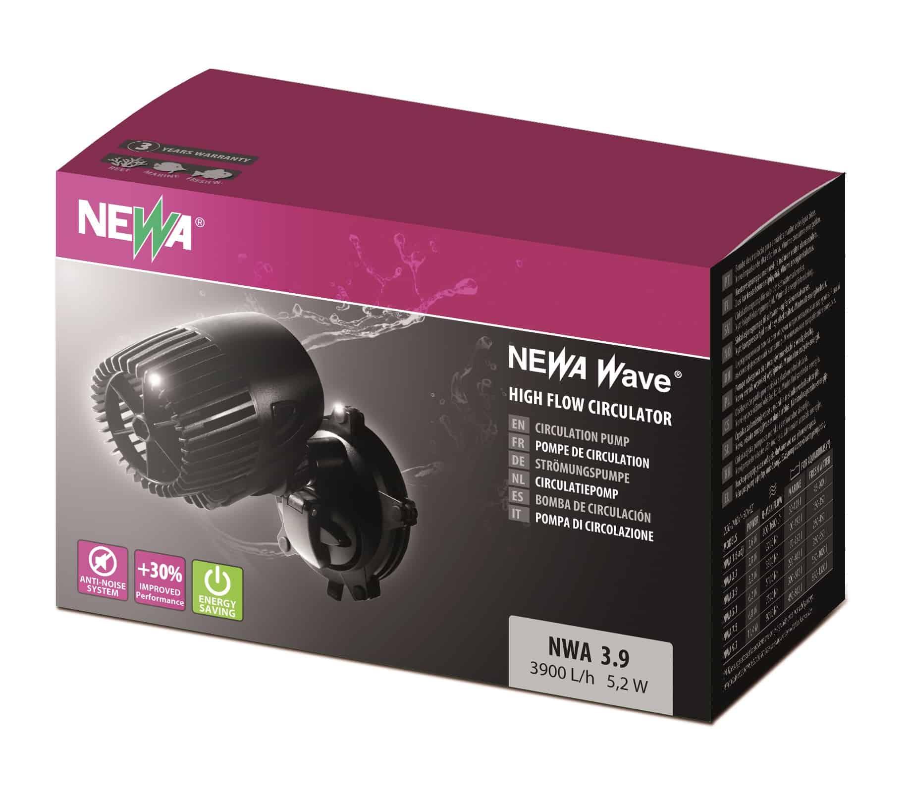NEWA Wave NWA 3.9 pompe de brassage avec débit de 3900 L/h pour aquarium d\'eau de mer et d\'eau douce