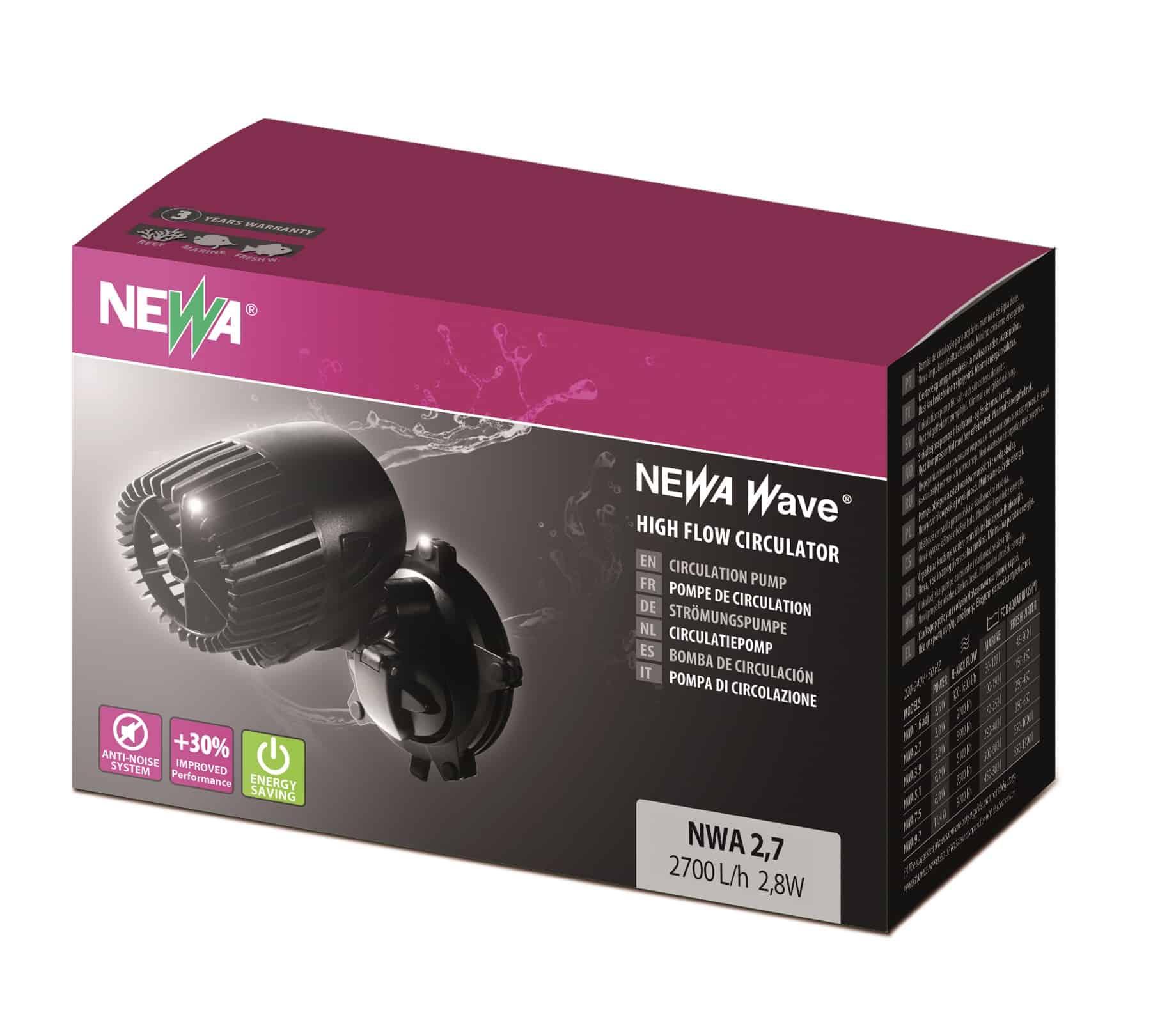 NEWA Wave NWA 2.7 pompe de brassage avec débit de 2700 L/h pour aquarium d\'eau de mer et d\'eau douce