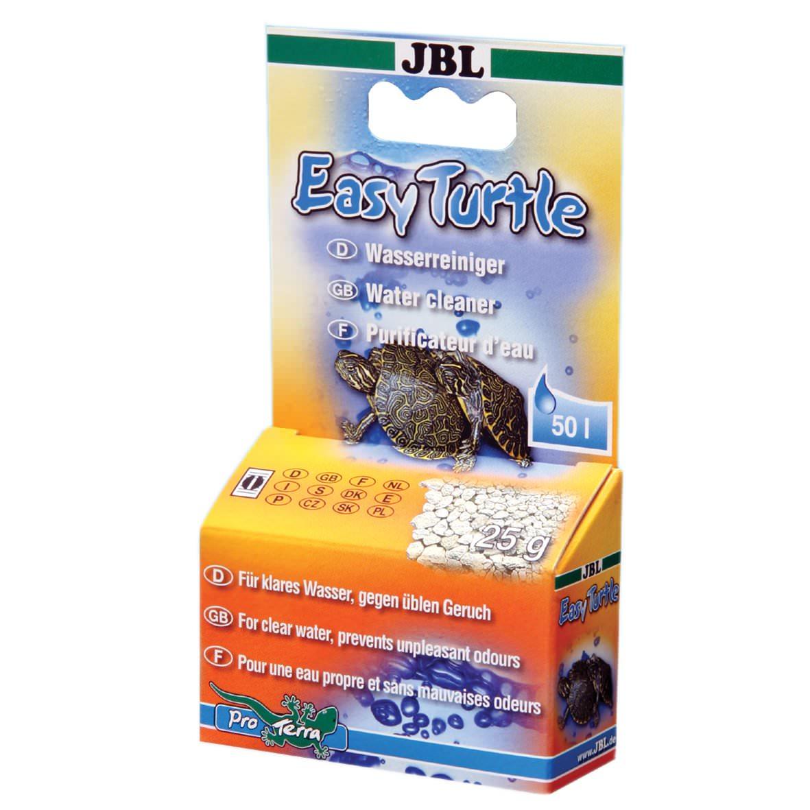 JBL Easy Turtle 25gr élimine les odeurs désagréables dans les terrariums pour tortues d\'eau.