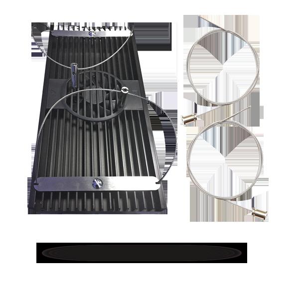D-D AIWIRE05 Kit de câbles en acier inoxydable pour l\'accrochage individuel des rampes AI Hydra 52, Hydra 26, Hydra, Vega et SOL