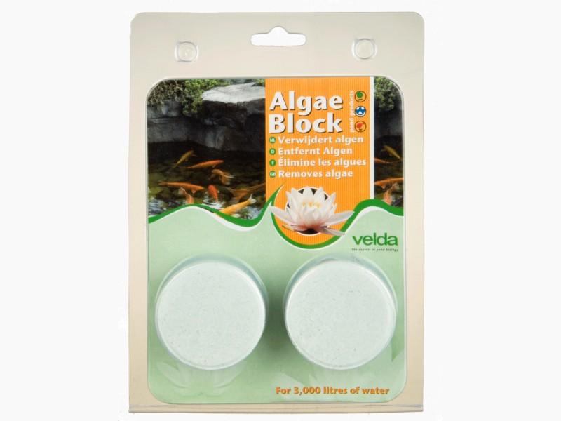 VELDA Algae Block 2 pastilles algicide anti-eau verte longue durée d\'action pour bassin jusqu\'à 3000 L