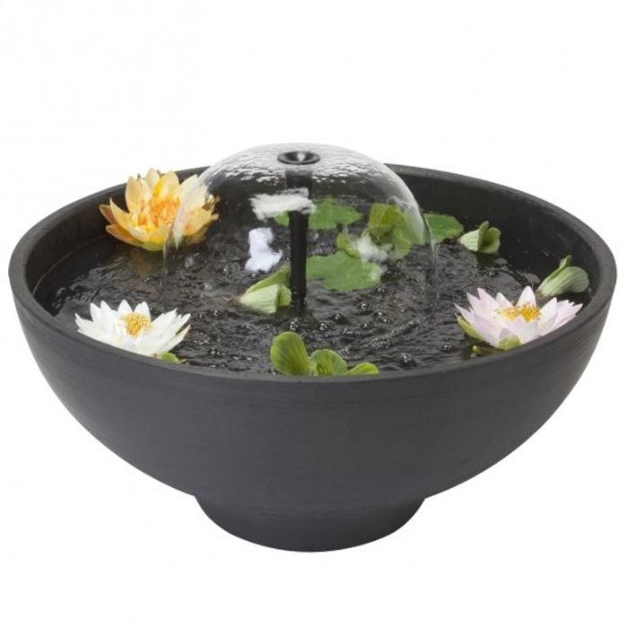 VELDA Fountain Pond diamètre 75 cm mini bassin rond pour balcon, jardin, terrasse et intérieur
