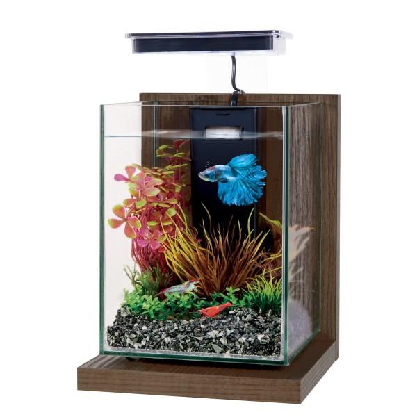 ZOLUX Wiha Noyer Brun 4L kit nano-aquarium équipé avec éclairage LEDs