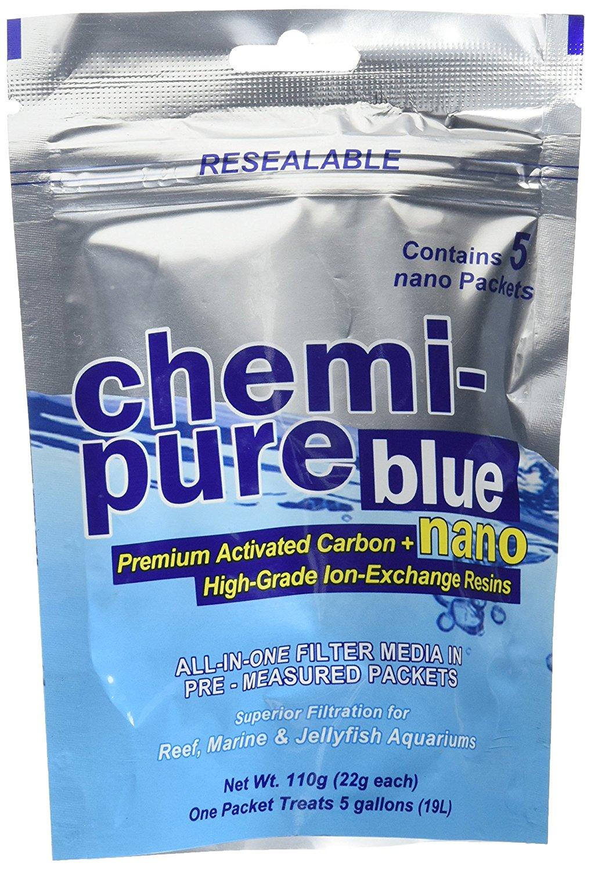 BOYD Chemi Pure Blue Nano 110 gr masse de filtration à base de charbon actif et de résines échangeuses d\'ions pour aquarium d\'eau de mer
