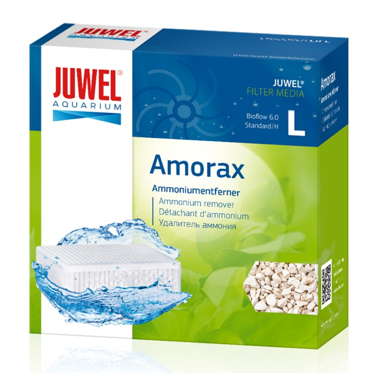 JUWEL Amorax L masse filtrante Anti-Ammoniaque à base de Zéolithe pour filtre Juwel Bioflow 6.0 et Standard. Dimensions 12,5 x 12,5 x 5 cm