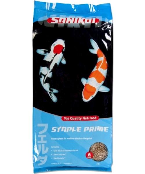 SANIKOI Staple Prime 20L nourriture Premium en granulés flottants de 6 mm pour carpes Koi de grandes tailles