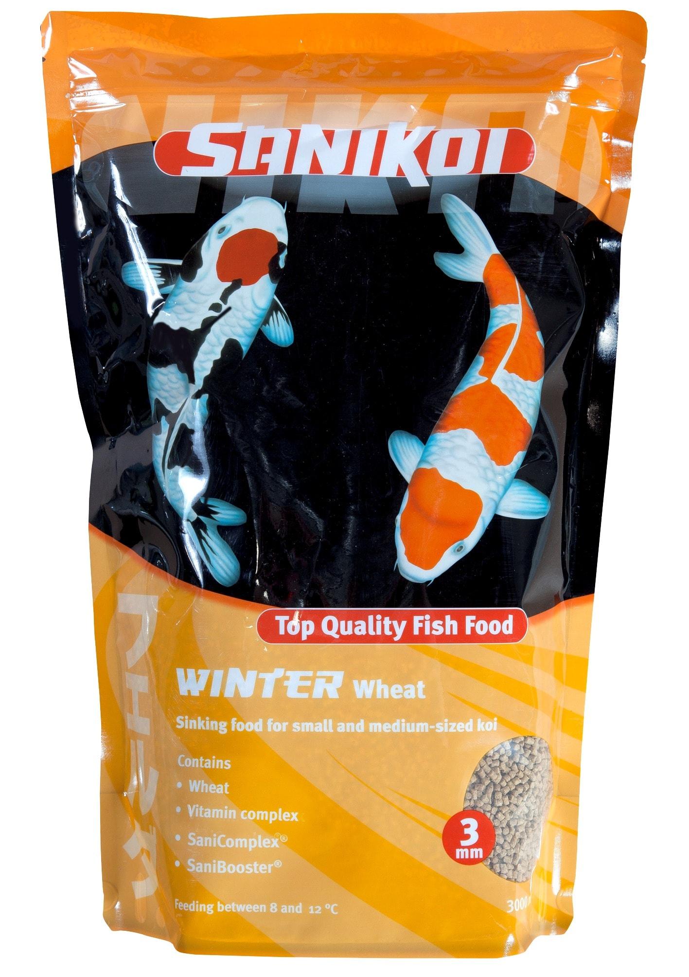 SANIKOI Winter Wheat Food 3L nourriture d\'Hiver Premium en granulés coulants de 3 mm pour carpes Koi