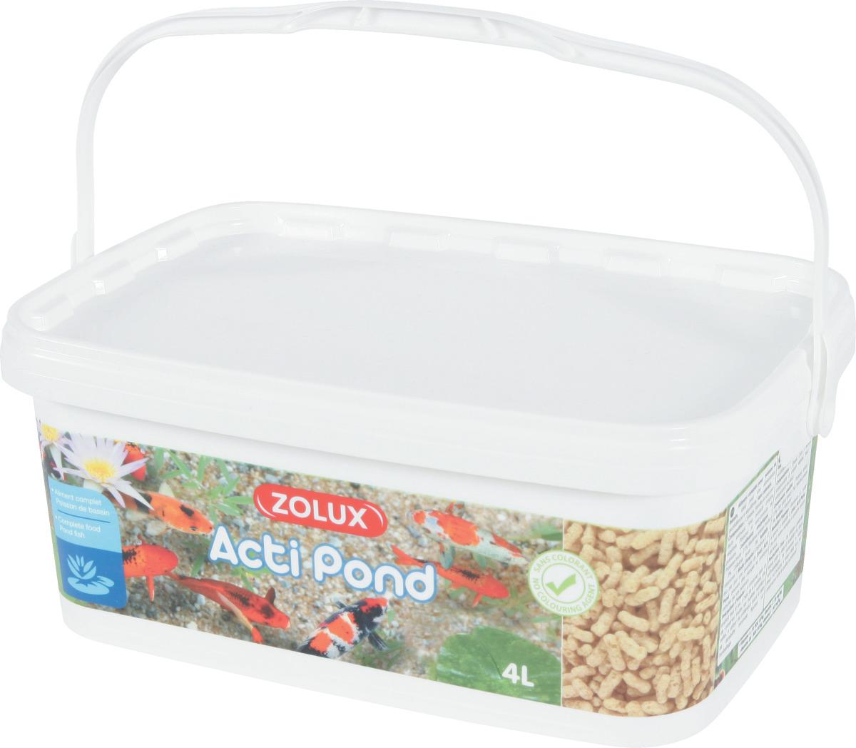 ZOLUX Acti Pond Stick Standard 4L aliment en sticks complet et équilibré pour tous poissons de bassin