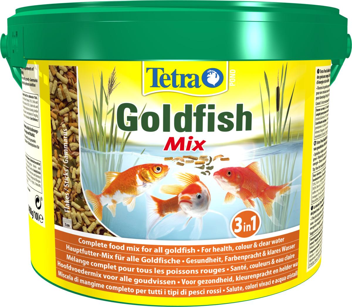 TETRA Pond GoldFish Mix 10L mélange alimentaire idéalement équilibré pour poissons rouges de bassin