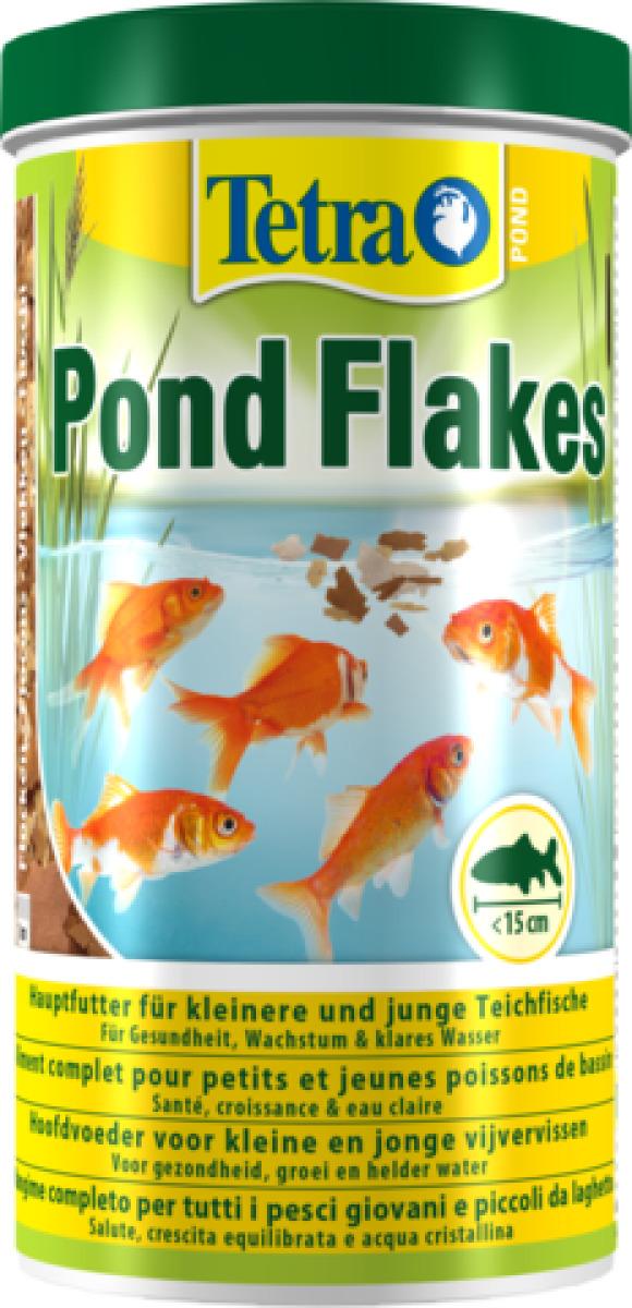 TETRA Pond Flakes 1L aliment complet en flocons spécialement conçu pour les petits poissons de bassin