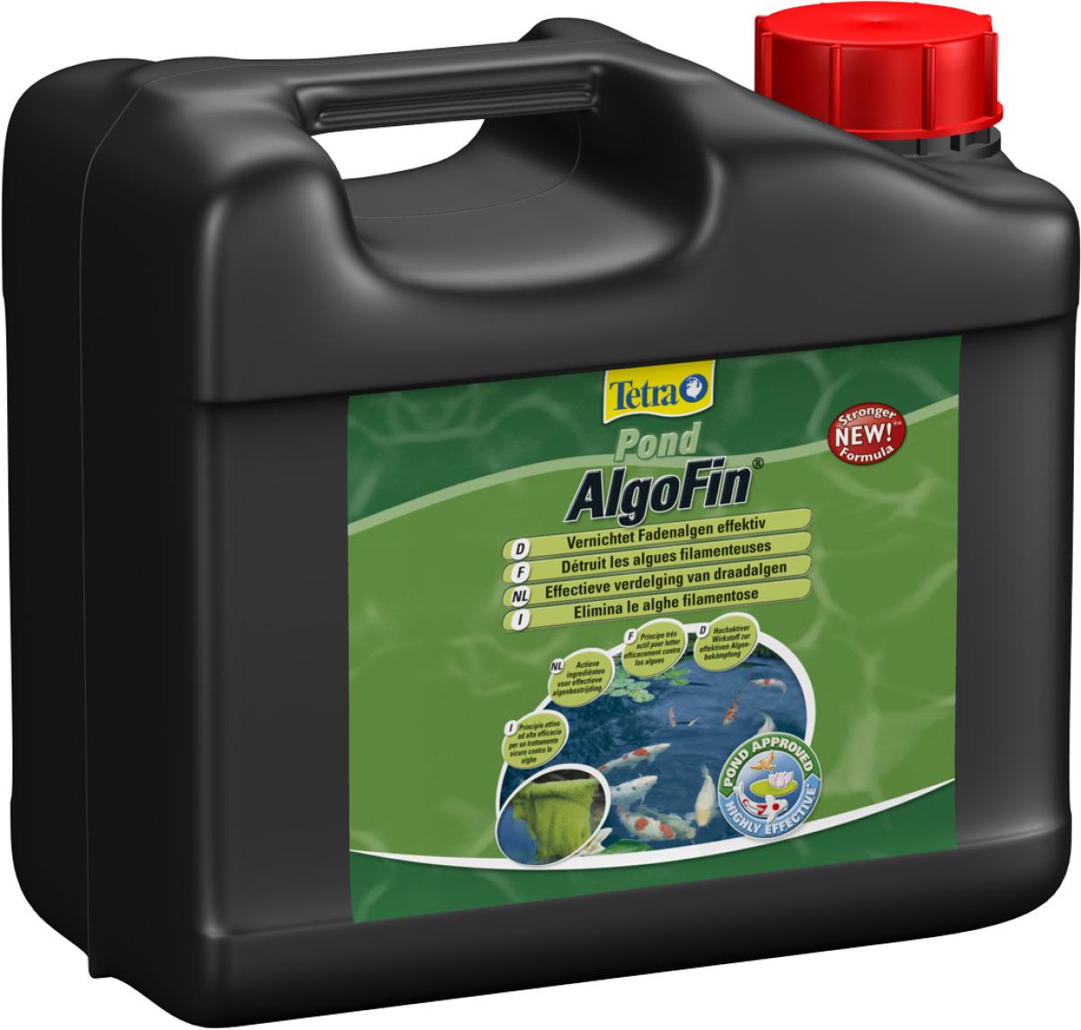 TETRA Pond AlgoFin 3L détruit les algues filamenteuses et autres algues courantes en bassin. Traite jusqu\'à 60000 L