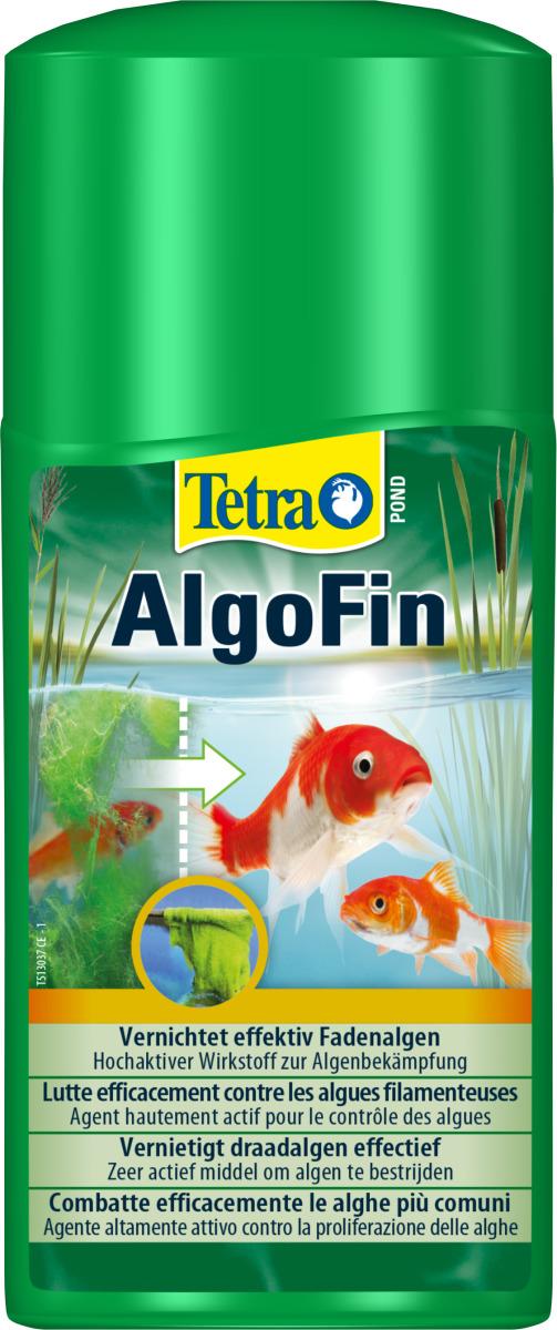 TETRA Pond AlgoFin 250 ml détruit les algues filamenteuses et autres algues courantes en bassin. Traite jusqu\'à 5000 L