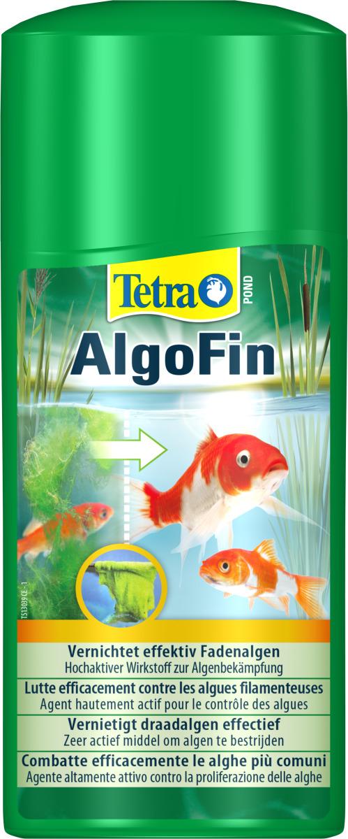 TETRA Pond AlgoFin 500 ml détruit les algues filamenteuses et autres algues courantes en bassin. Traite jusqu\'à 10000 L