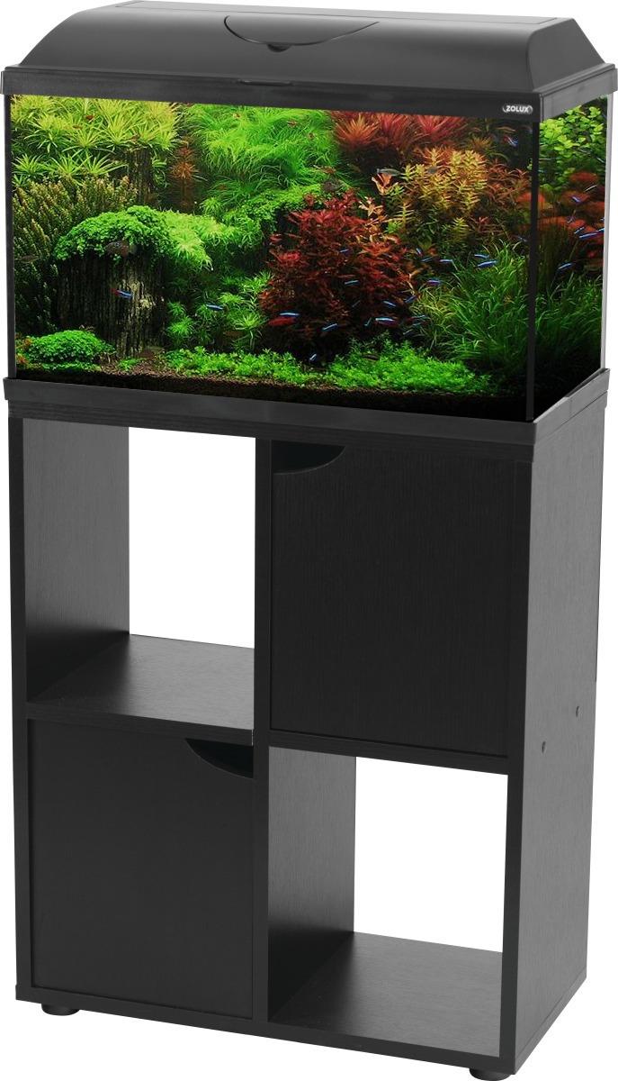 Zolux Iseo 60 Noir Aquarium Equipe 57l Longueur 61 Cm Avec Ou Sans Meuble Aquarium Prix Discount Akouashop Com
