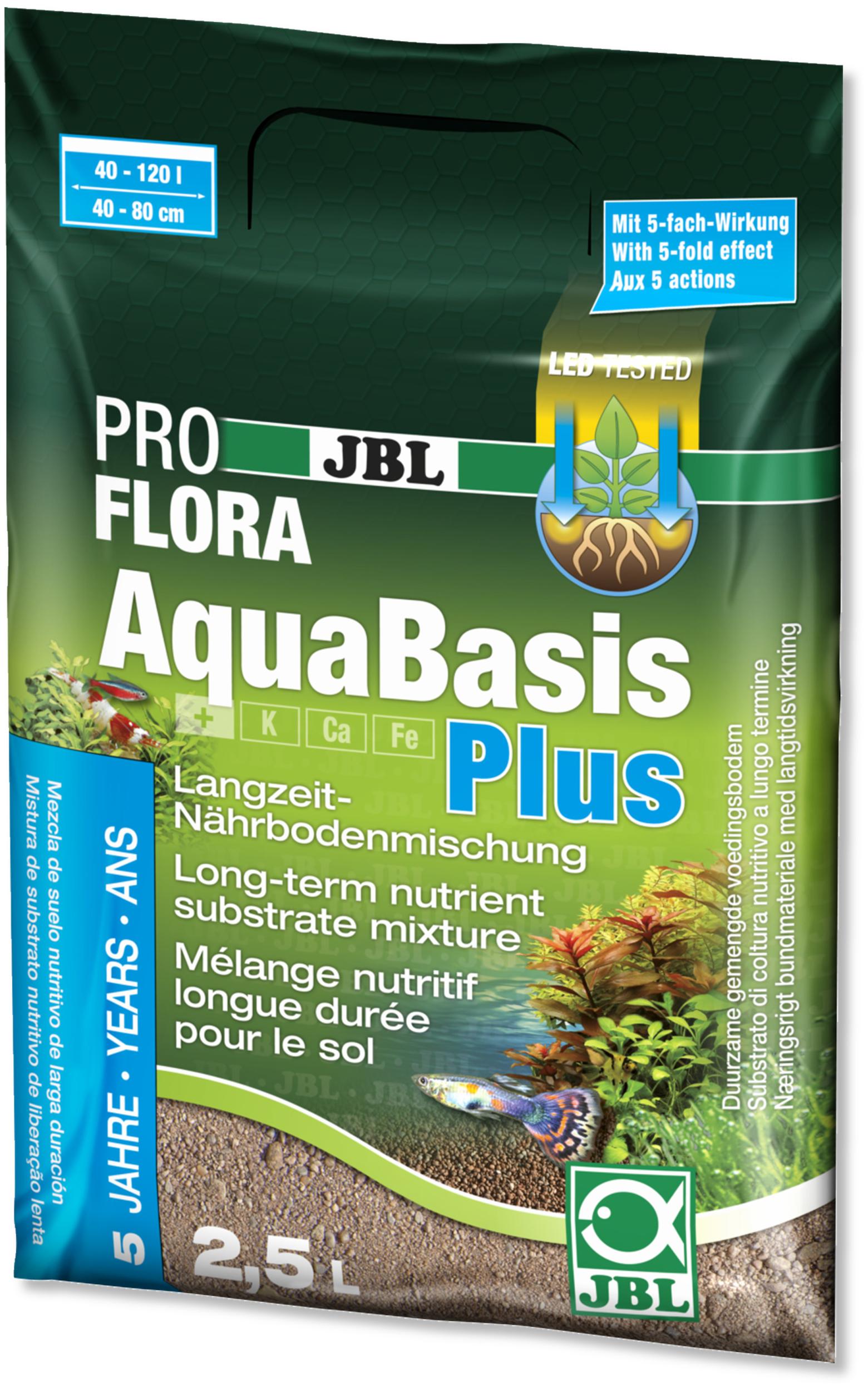 JBL ProFlora AquaBasis Plus 2,5 L substrat nutritif pour aquarium de 40 à 120 L ou 40 à 80 cm