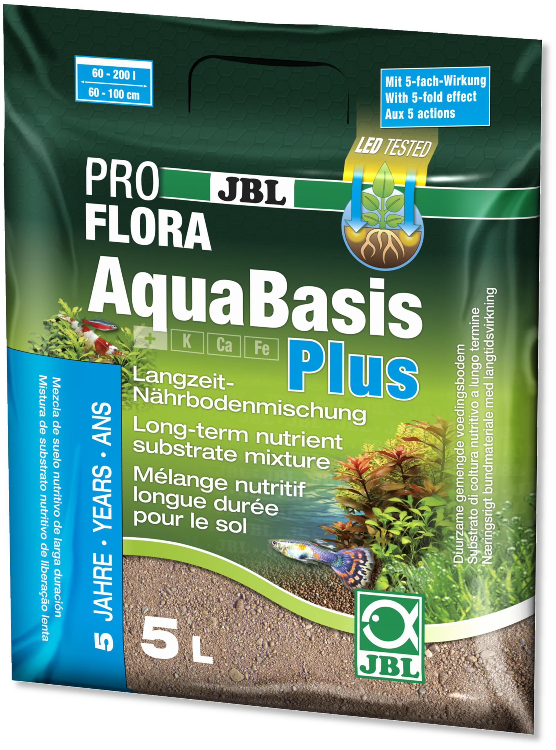 JBL ProFlora AquaBasis Plus 5 L substrat nutritif pour aquarium de 60 à 200 L ou 60 à 100 cm