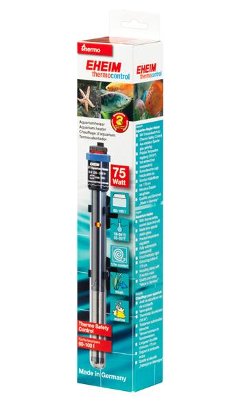 EHEIM JÄGER 75W chauffage pour aquarium d\'eau douce et d\'eau de mer entre 60 et 100L
