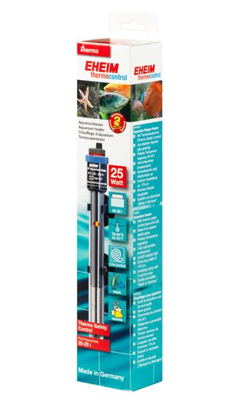 EHEIM JÄGER 25W chauffage pour aquarium d\'eau douce et d\'eau de mer entre 20 et 25L
