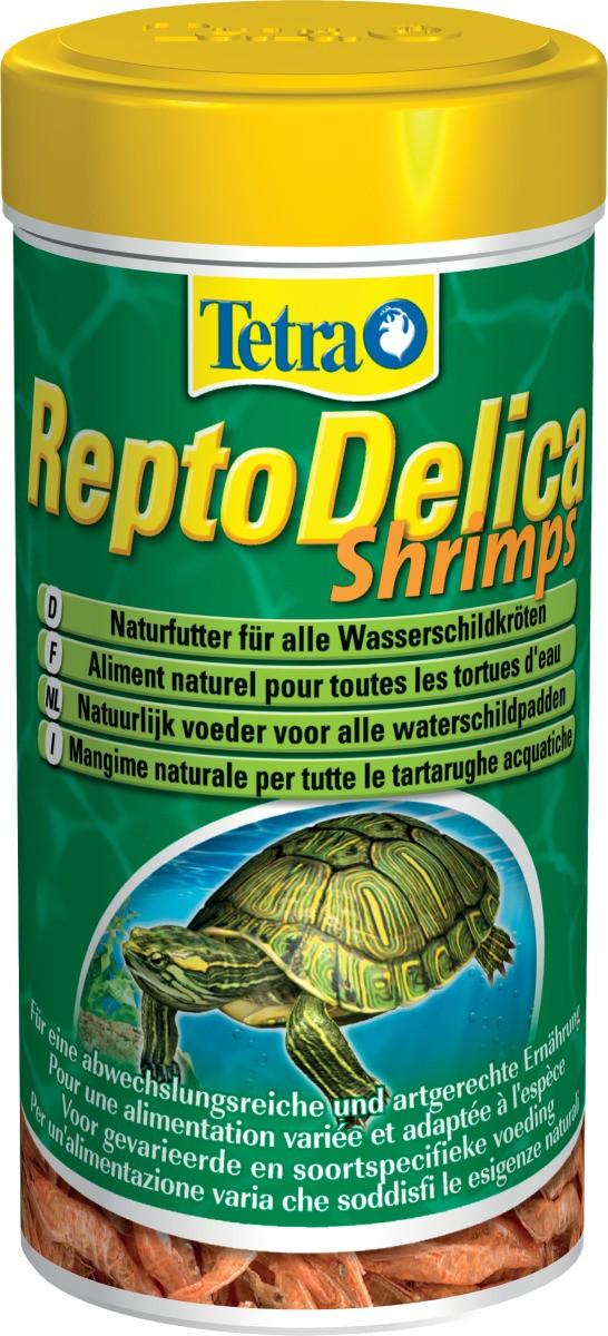 TETRA ReptoDelica Shrimps 250 ml crevettes séchées entières pour tortues d\'eau