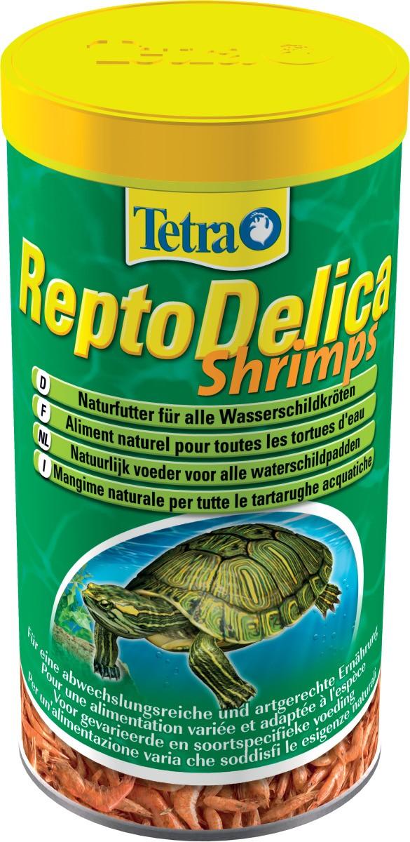 TETRA ReptoDelica Shrimps 1 L crevettes séchées entières pour tortues d\'eau