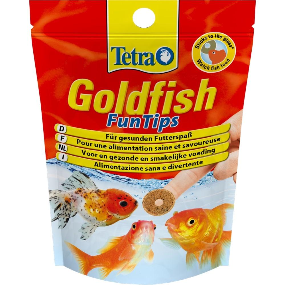 TETRA Goldfish FunTips 20 Tablettes adhésives nutritives pour poissons rouges et voiles de Chine