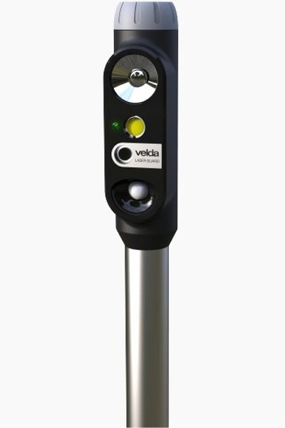 VELDA Laser Guard appareil anti Héron avec laser, flash et cri pour bassin avec poissons