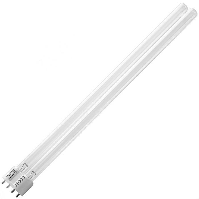JECOD Ampoule Compact UV-C 55W avec culot 2G11 pour stérilisateur de bassin et d\'aquarium