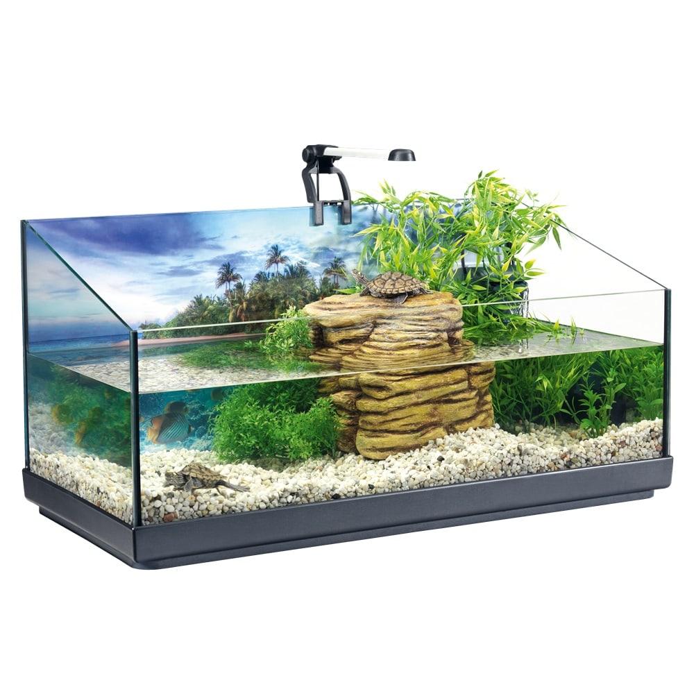 TETRA ReptoAquaSet aquaterrarium complet de 80L pour tortues d\'eau