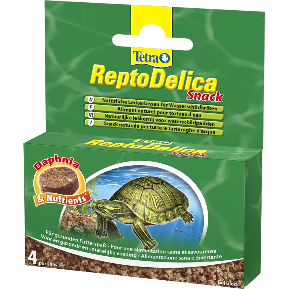 TETRA ReptoDelica Snack 4 x 12 gr nourriture complémentaire sous forme de bloc gélifié pour tortue d\'eau