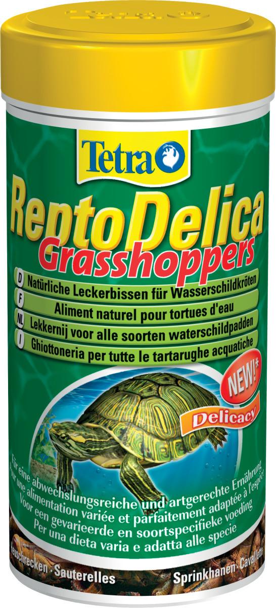 TETRA ReptoDelica Grasshoppers 250 ml sauterelles séchées pour Tortues d\'eau