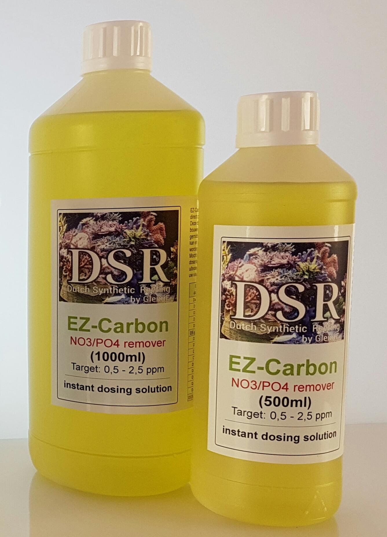 DSR EZ Carbon 1 L réduit efficacement les Nitrates et Phosphates en aquarium marin