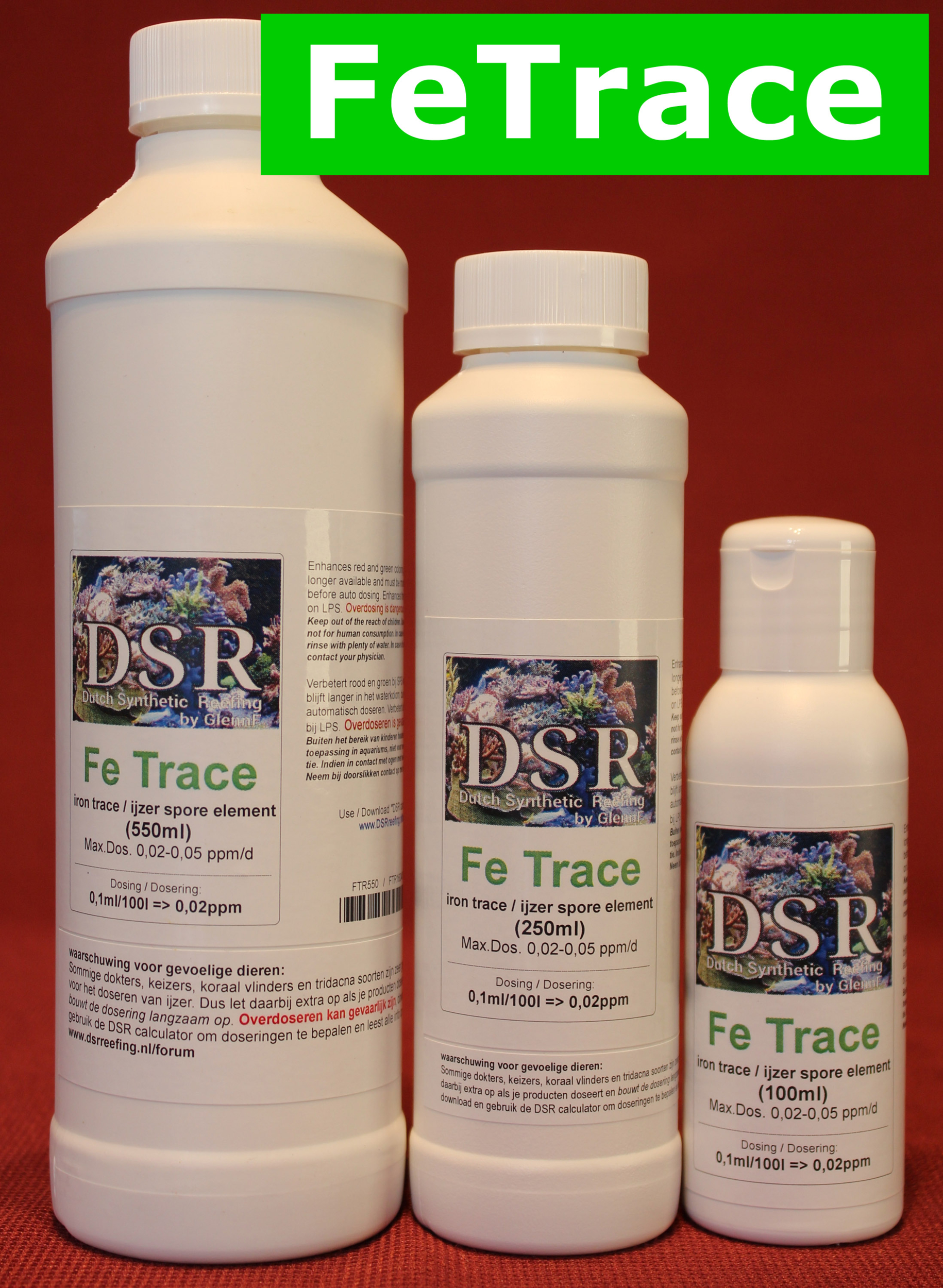 DSR Fe Trace+ 1 L complément de Fer pour augmenter les couleurs Vertes et Rouges des coraux