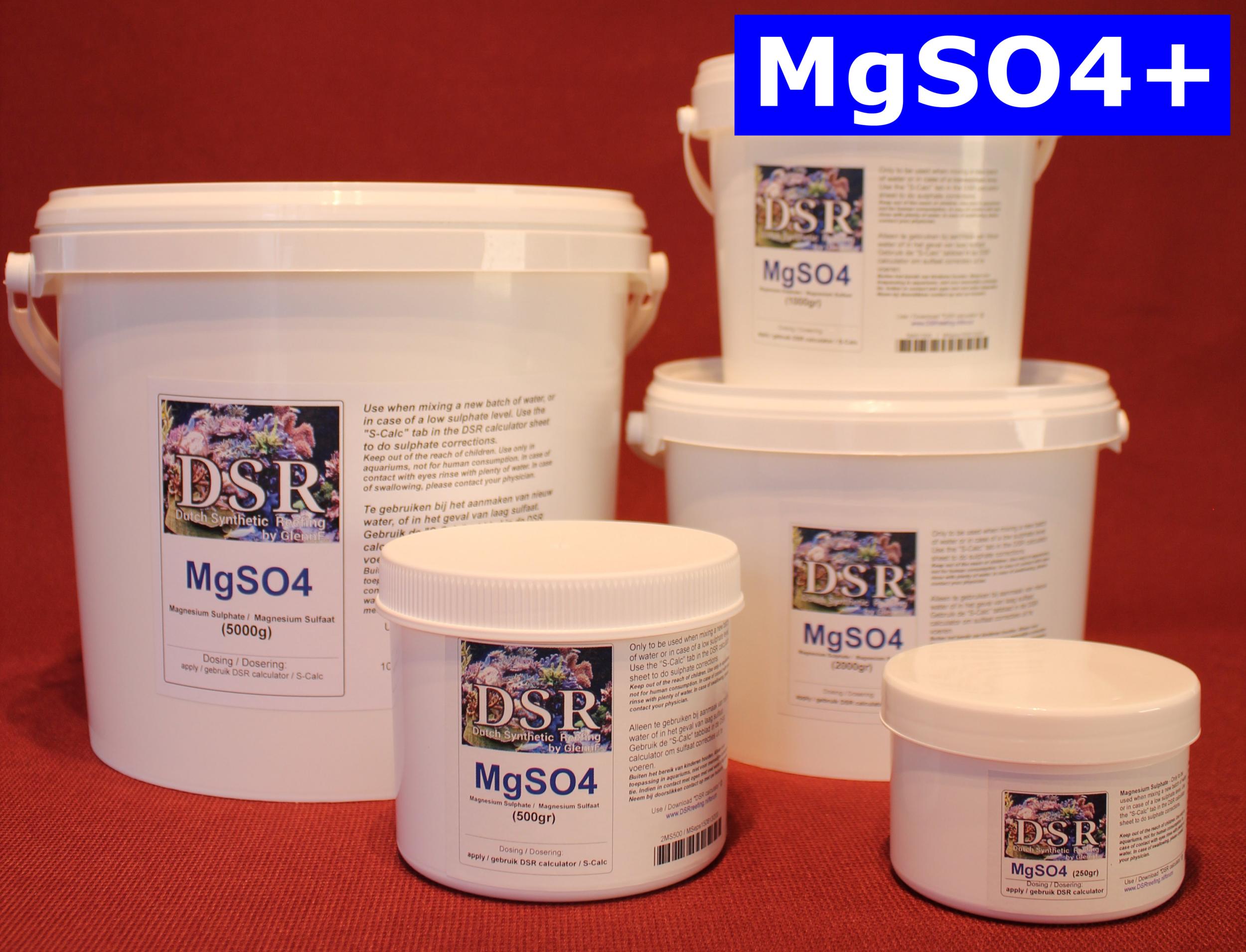 DSR MgSO4+ 1 Kg complément de Magnésium avec Sulfate pour eau douce de remplacement